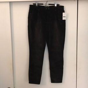 Free People Black Textured Pants